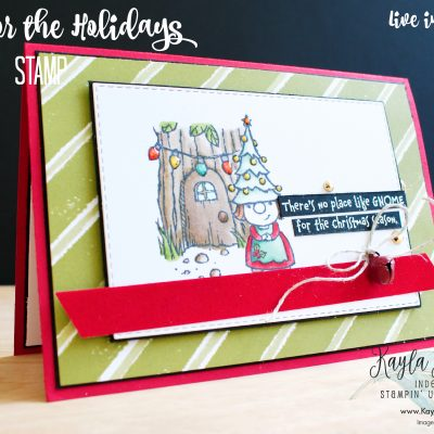 Stampin' Up! Gnome for the Holidays ~ #CardOne
