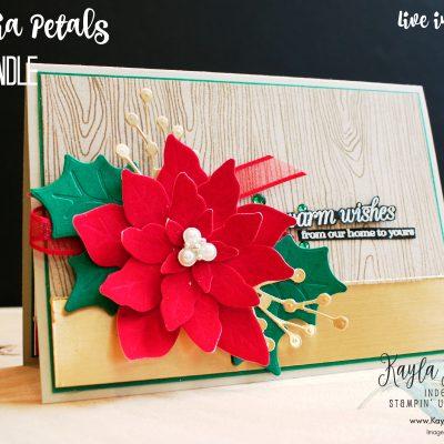 Stampin' Up! Poinsettia Petals ~ #CardOne