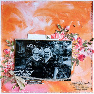 Stampin' Up! Fine Art Floral ~ Scrapbook Page