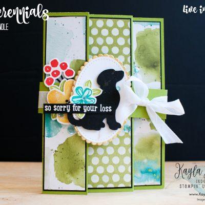 Stampin' Up! ~ Pretty Perennials ~ Fun Fold Card