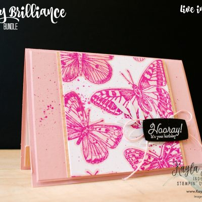 Stampin' Up! ~ Butterfly Brilliance ~ Hooray Birthday Card