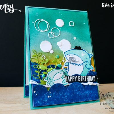 Stampin' Up! ~ Shark Frenzy ~ Birthday Card