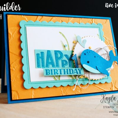 Stampin' Up! ~ Whale ~ Birthday Card
