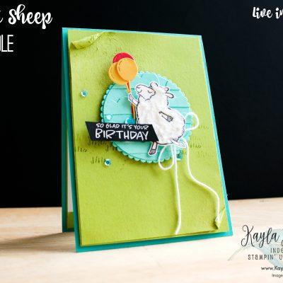 Stampin' Up! Counting Sheep ~ Birthday Card